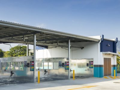 Architectural photography of Anderson St Carwash for Keir Qld, Nov 2019.
